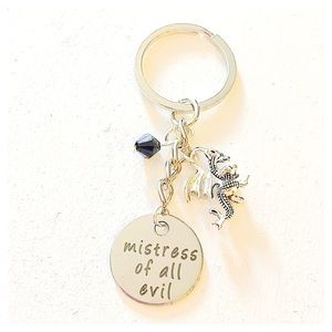 ✨3 for $30✨ Mistress of all Evil Silver Keychain